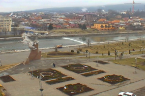 Pliev Square. Webcams in Vladikavkaz online